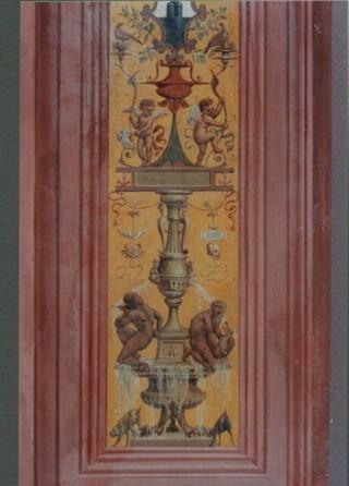 Decorazione grottesca eseguita in tecnica a stucco lucido successivamente invecchiata. Palazzo Pubblico - Siena