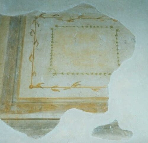 Finto ritrovamento a frammento eseguito in tecnica ad affresco, successivamente invecchiato. Villa privata - Firenze