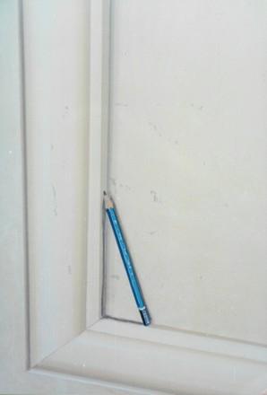 Particolare di riquadri con finte cornici, con matita - Acrilico su muro Casa Privata - Cecina (Livorno)