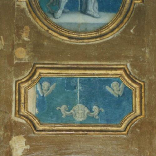Particolare in fase di restauro. Collezione privata - Perugia